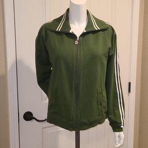 NYL Dark Olive Zip Front Sweatshirt Sz XL